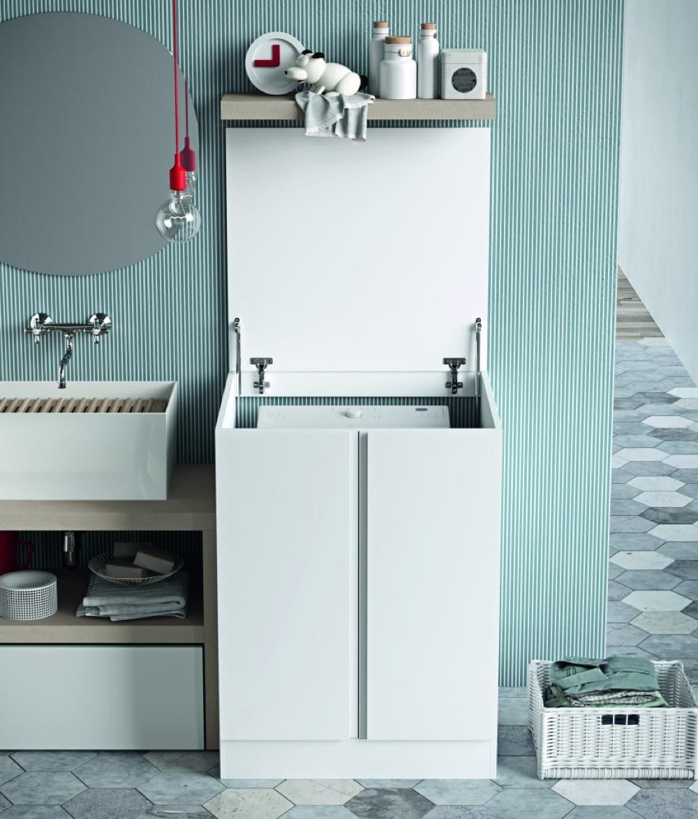 Mobile nascondi lavatrice in lavanderia