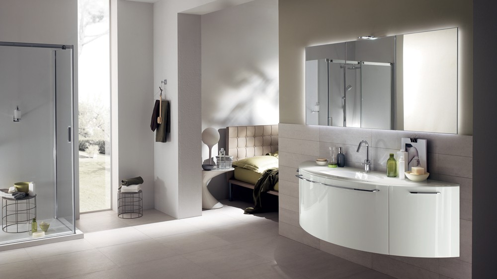 Bagno moderno bianco Scavolini