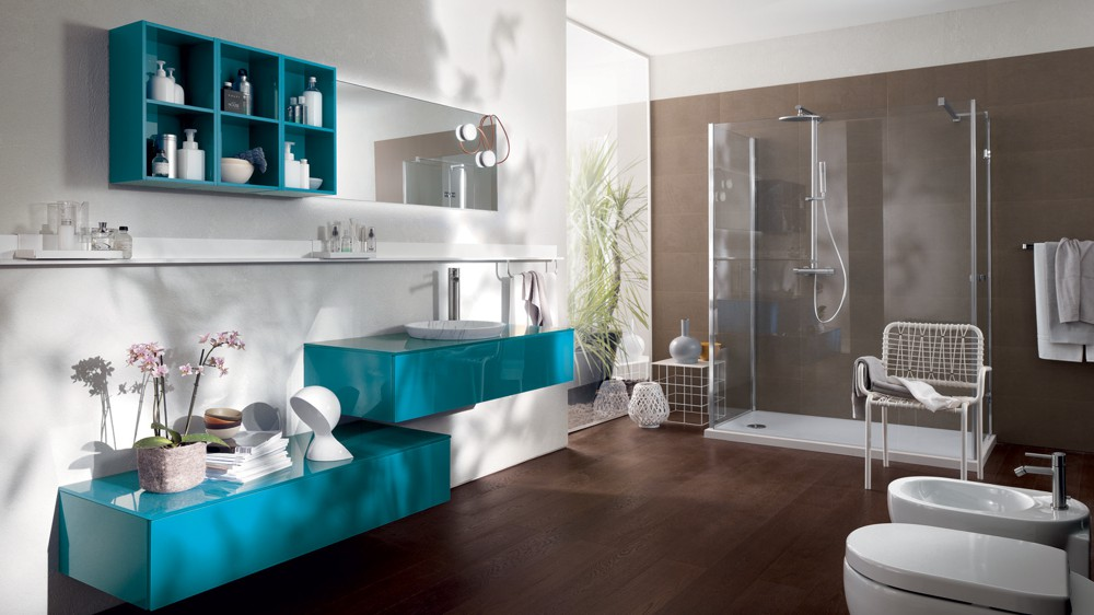 Bagno moderno blu Scavolini