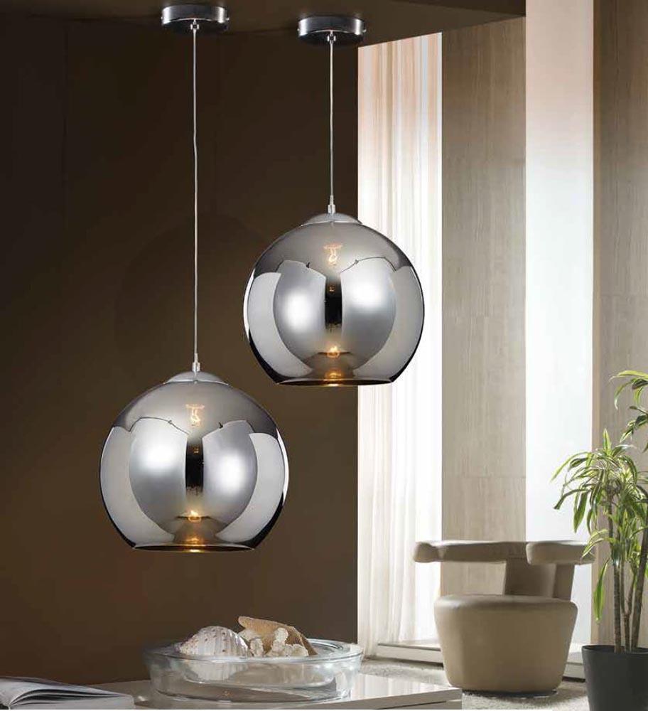 Lampada doppia a sospensione in alluminio