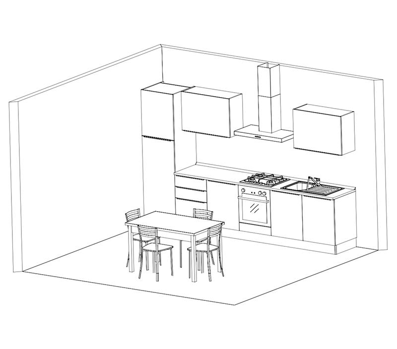 Disegno cucina arredamenti mattio for Disegno cucina