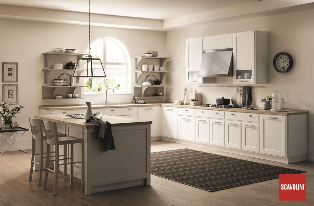 Cucina Scavolini Favilla legno bianco chiaro