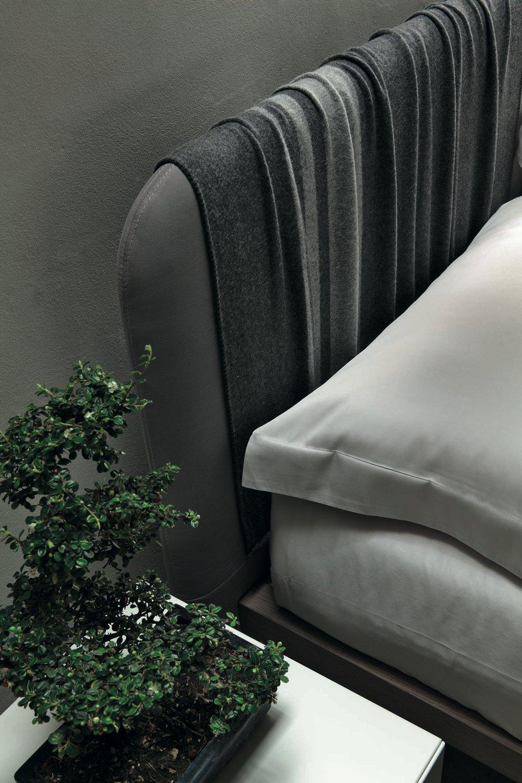 Schienale letto imbottito grigio