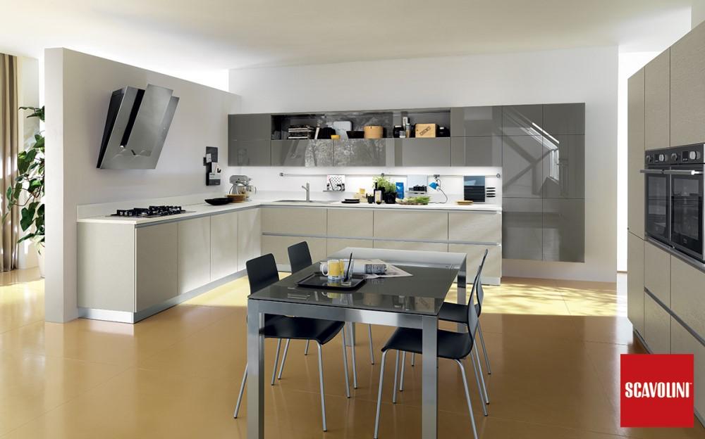 Cucina moderna Scavolini liberamente grigia