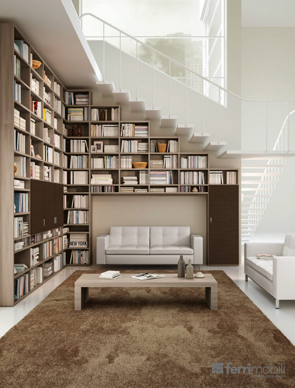 Libreria in legno Ferri mobili