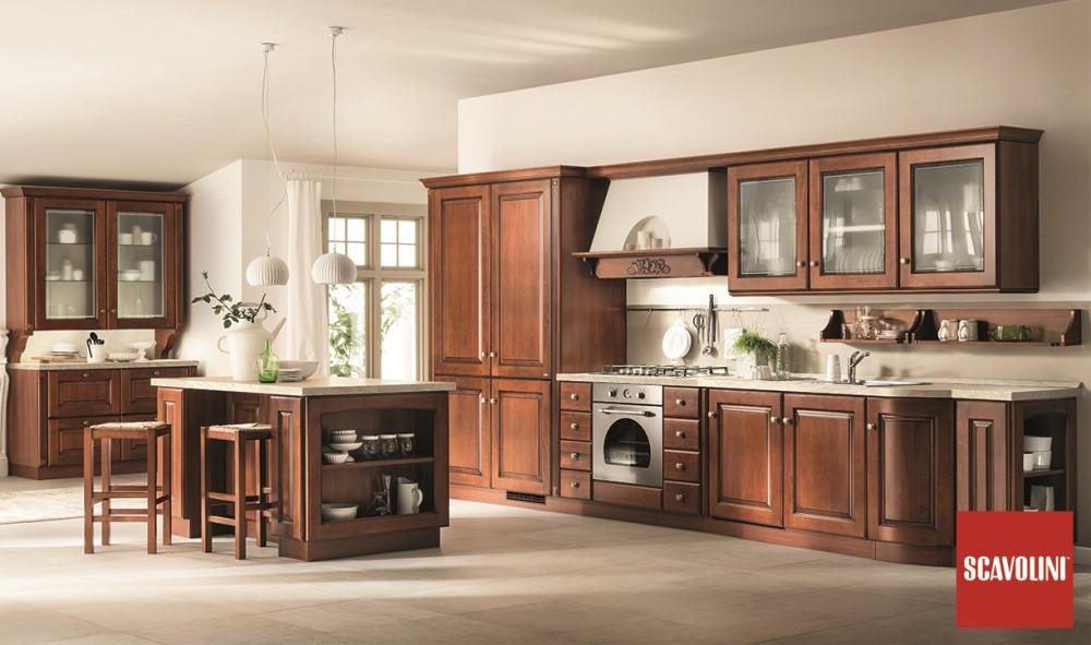 Cucina Scavolini Madeleine legno scuro
