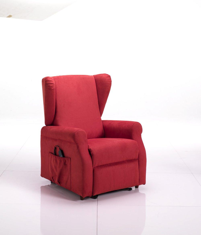 Poltrona relax automatica rossa per anziani