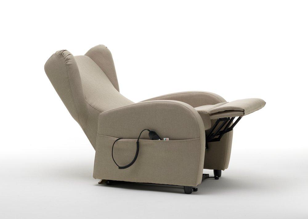 Poltrona relax automatica grigia aperta