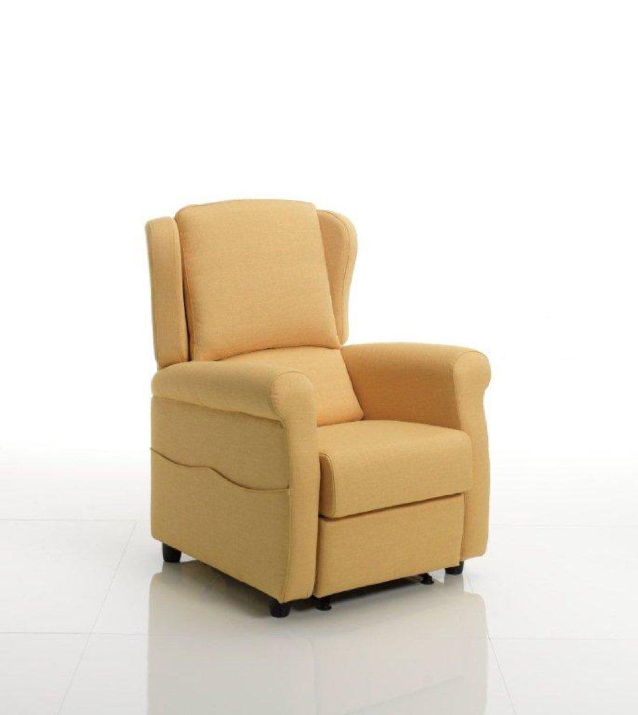 Poltrona relax automatica gialla
