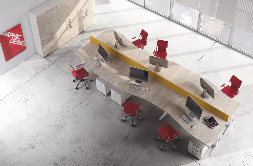 Scrivania modulare per ufficio