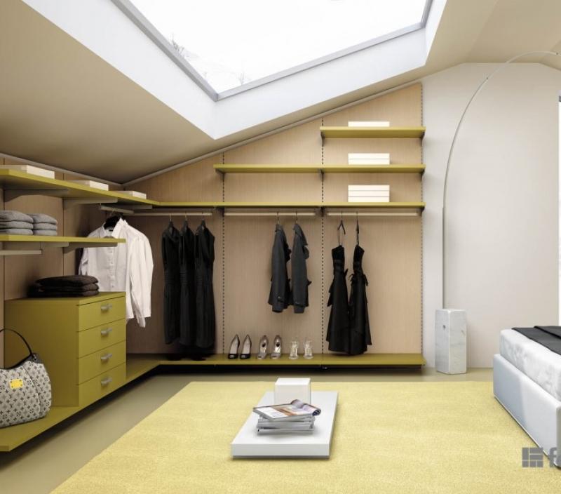 Cabina armadio gialla Ferri mobili