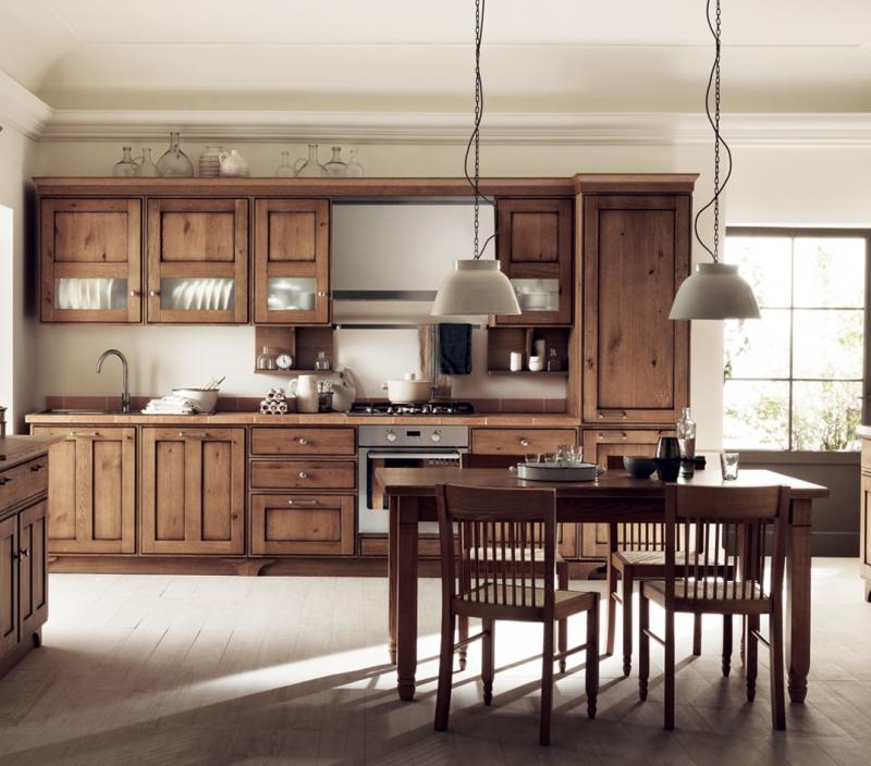 Cucina Scavolini Favilla legno marrone scuro