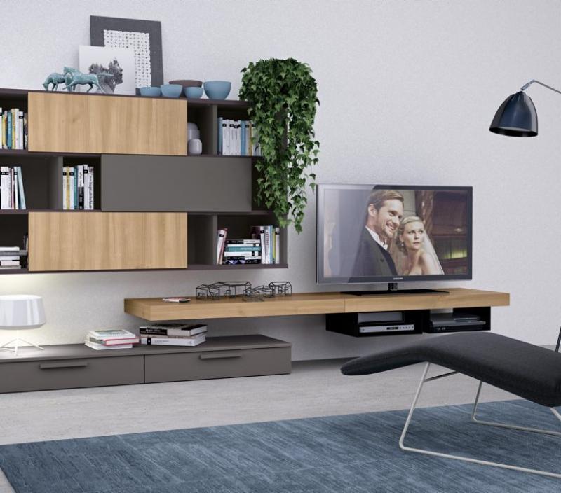 Parete TV leggera minimal
