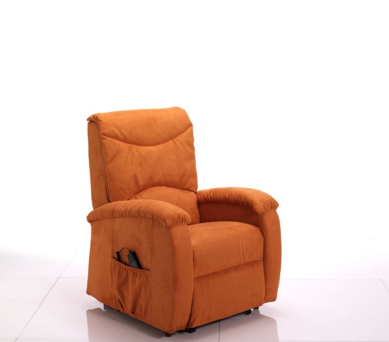 Poltrona relax automatica arancione per anziani