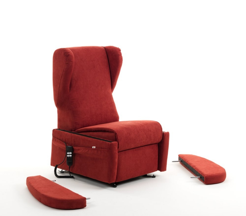Meccanismo poltrona relax automatica rossa