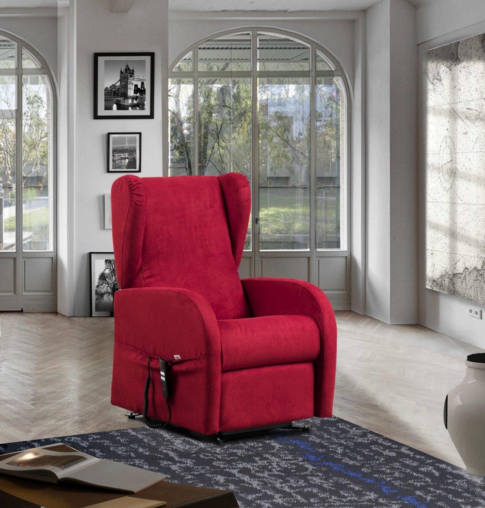 Poltrona relax automatica elettrica rossa